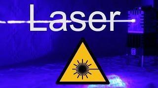 Laser selber bauen - es leuchtet blau - DIY für CNC Fräse