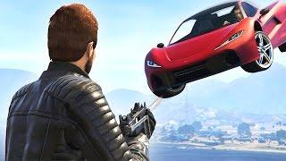 GUNNERS vs FLYING CARS! (GTA 5 Funny Moments)