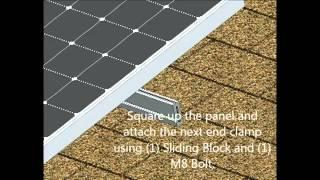 How To Install Solar Flush Mount System On Asphalt Shingle Roof