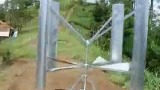 giromill wind turbine - second Test- p1