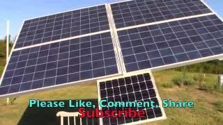Off Grid Solar Cabin Solar Tracker Update used to generate electricity