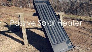 How to build a SOLAR HEATER with BEER CANS