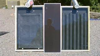 "Solar Air Heater! - The ""Screen Absorber"" Solar Air Heater! - Easy DIY (streamlined version 2.0)"