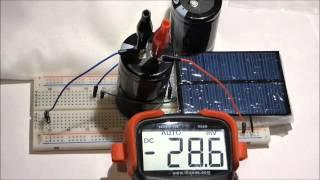 Prototype DIY indoor only solar powered supercapacitor charger how to tutorial