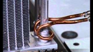 Radiator aluminium brazing   CEIA induction heating