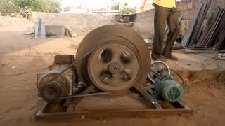 India's first successful free electricity Flywheel energy generator