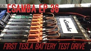 18650 TESLA battery drive test - eSamba DIY EV conversion