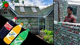 Bangladeshi inventor made HOUSE from Plastic Bottles without cost | Eco-House Bangladesh