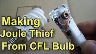 How to Making Joule Thief From CFL Bulb