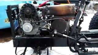 How to mount alternator on a 6.5 hp engine / my homemade garden tractor part 9