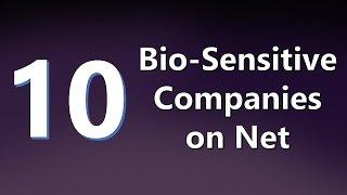Top 10 Bio-Sensitive Companies on Net