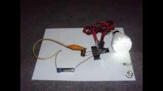 วงจรขับ LED โดยใช้ถ่าน 1 ก้อน ( Joule Thief Circuit )