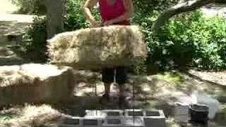 How to Build a Straw Bale House : How to Set the Straw Bales to Construct a Straw Bale House