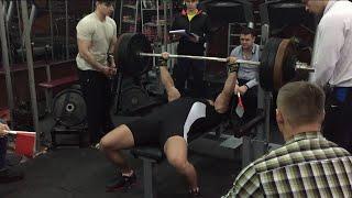 Жим лежа 192,5 кг Чемпионат Одесской области по жиму лежа RAW 2016