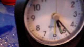my homemade earth battery powering a clock