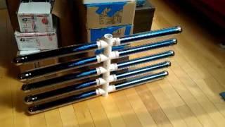 Solar vacuum tubes natural water flow 10-tube array
