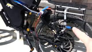 Solar charging the HPC XC Elite electric bike