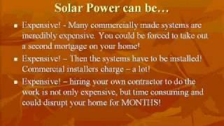 Free Video-Create renewable solar energy, DIY Solar Power Lights
