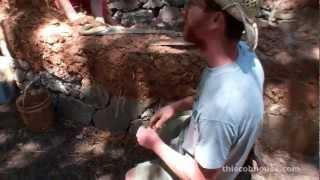 "Cob House Building - How to ""Plumb"" a Cob Wall"