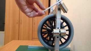 Hand Permanent Magnet Motor (Not magnet free energy or perpetual motion machine)