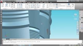 Gwindoline VAWT AutoCAD 2011 animated render