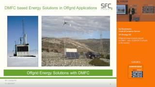 Offgrid energy solutions based on DMFC - over 33,000 SFC fuel cells in the market
