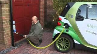 Electric Smart Car plug in demo