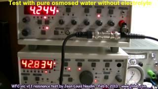 Stanley Meyer's Water Fuel Cell (WFC) test with the VIC circuit v1.1