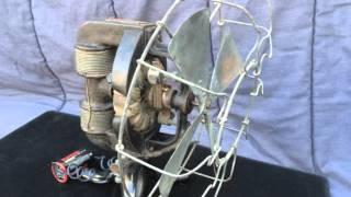 1890s Edison Battery Powered Bipolar Fan Motor