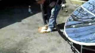 Solar Beam Boiler testing 2