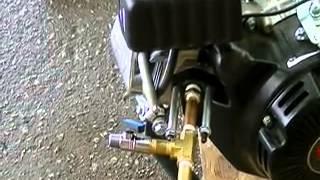 99cc Engine Running on Pure Hydrogen (H2)