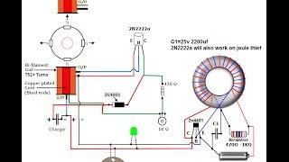 Schematics for Joule Thief Bedini