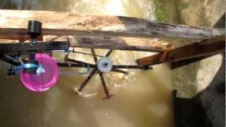 Six blades Darrieus water turbine