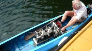 Stirling Engine Powered Canoe