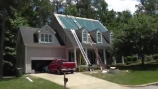 Raleigh Solar Shingle Installation by Sun Dollar Energy   YouTube 360p