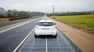 France Normandy: officially the first country in the world to have a solar road.