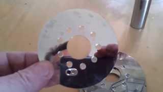 Tesla turbine from hard drive junk