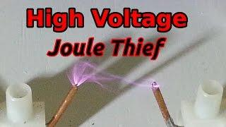 High Voltage Joule Thief with Flyback - 10,000 Volts