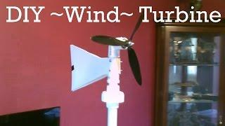 Homemade Wind Turbine Generator! - DIY (swivel-top) Wind Turbine! - Easy DIY - w/wind & power tests