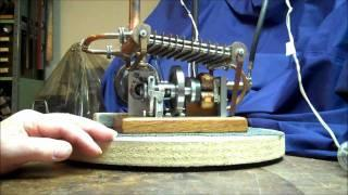 Stirling engine emergency home power generator