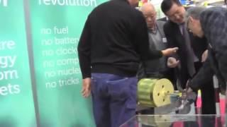 Several Brief Runs of Yildiz Magnet Motor at Palexpo, April 12