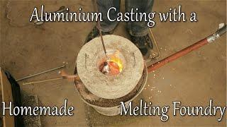 Aluminium casting with a homemade melting foundry inspired by Grant Tompson