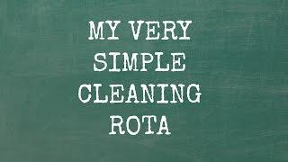 A very simple cleaning rota