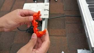 Mounting my Enphase 250 microinverter on Ironridge rack
