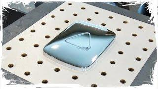 Vacuum Forming a Silver Play Button (Real Play Button Molds)