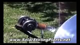 Off Grid Renewable Energy SOLAR STIRLING GENERATORS Setup PLANS