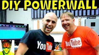 Visiting Mr. DIY POWERWALL • Peter, the 18650 dude!!  6720 recycled laptop cells = 60kWh battery