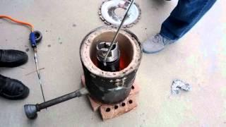 DIY Foundry Almost Destroyed By Molten Aluminum