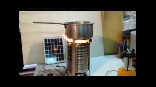 Wood stove Gasification stove for cooking.mp4