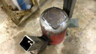 How to build Gas bottle Rocket Stove